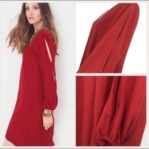 White House black market split front chiffon dress